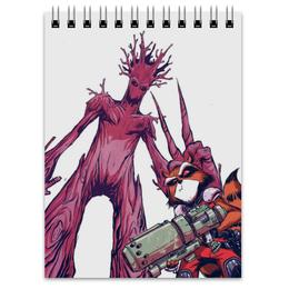 """Блокнот """"Ракета и Грут"""" - комиксы, марвел, ракета, стражи галактики, грут"""