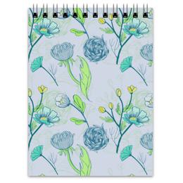 "Блокнот ""Цветочный паттерн "" - арт, цветы, аромат"