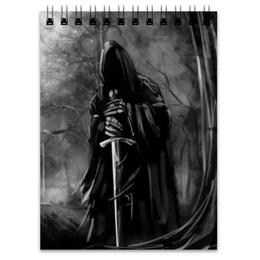 """Блокнот """"Смерть с мечом"""" - готика, страх, смерть, ужасы, мистика"""