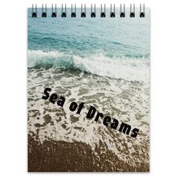 """Блокнот """"Sea of Dreams"""" - море, природа, пляж, волны, турция"""