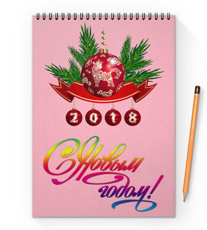 Фото - Блокнот на пружине А4 Printio Новый год худи print bar новый год 2017