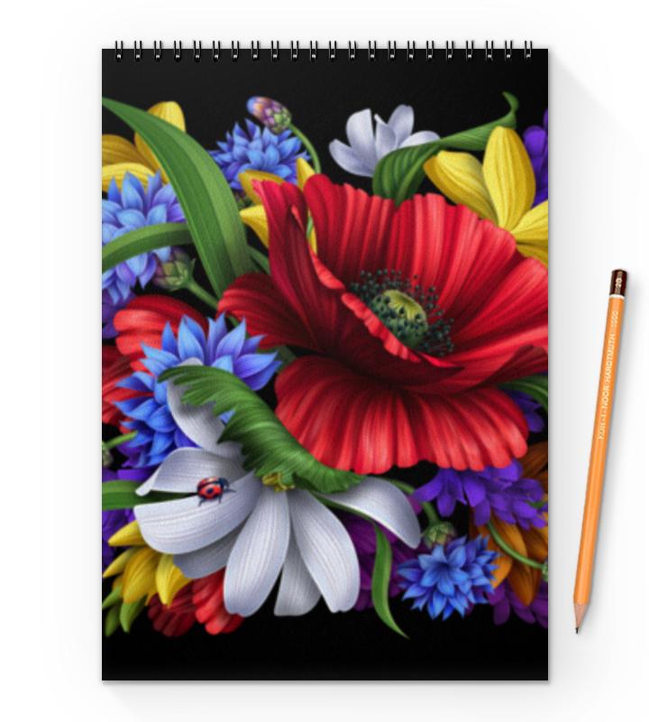 Блокнот на пружине А4 Printio Композиция цветов блокнот printio композиция цветов
