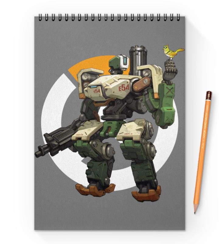 Блокнот на пружине А4 Printio Overwatch bastion / овервотч бастион сумка с полной запечаткой printio overwatch bastion овервотч бастион