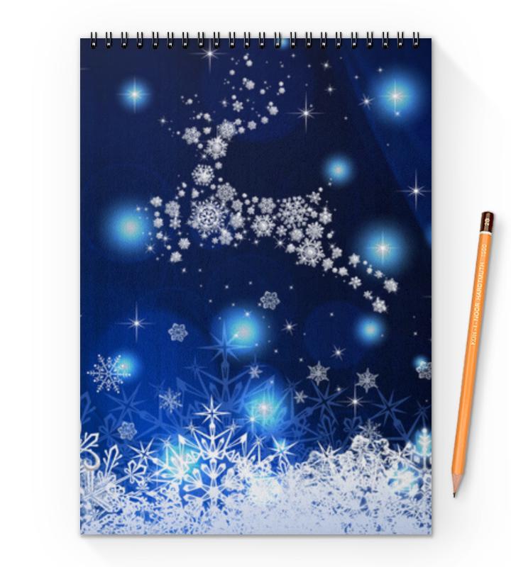Блокнот на пружине А4 Printio Новогодний блокнот printio новогодний лось
