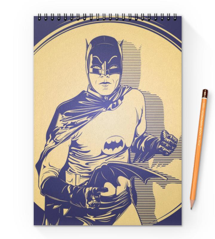 Блокнот на пружине А4 Printio Бэтмен блокнот для эскизов а5 на пружине 86 стр 110 гр