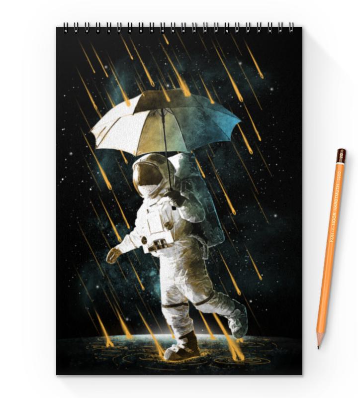 Блокнот на пружине А4 Printio Метеоритный дождь