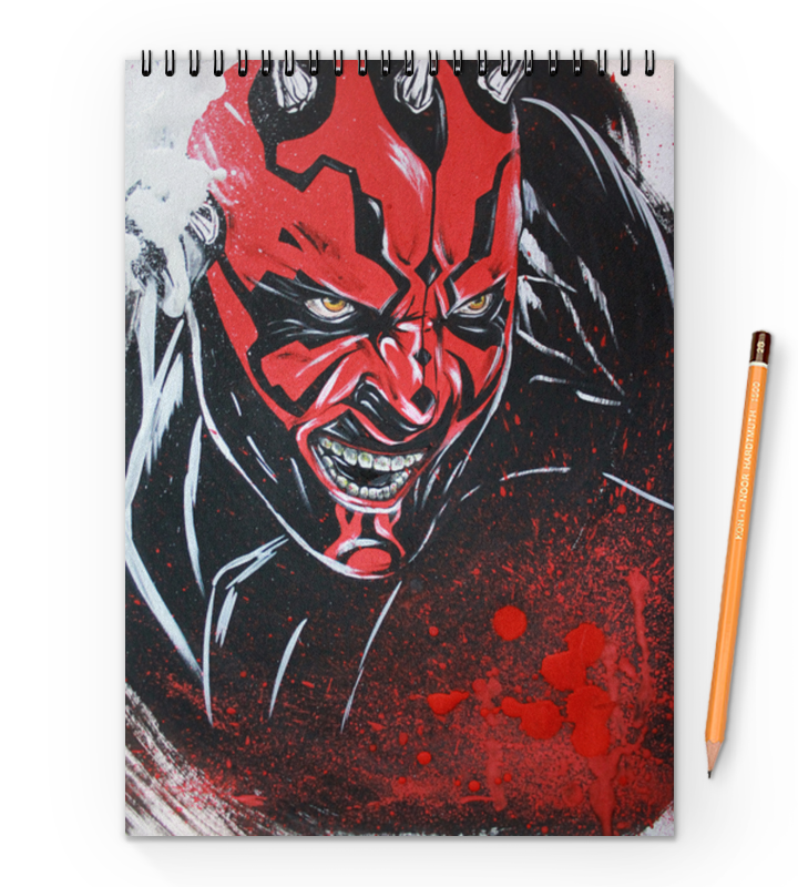 Блокнот на пружине А4 Printio Дарт мол (darth maul) блокнот printio дарт мол darth maul