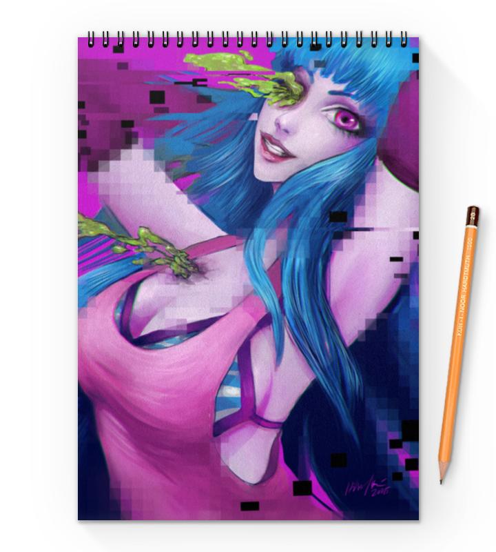 Блокнот на пружине А4 Printio Pixel girl