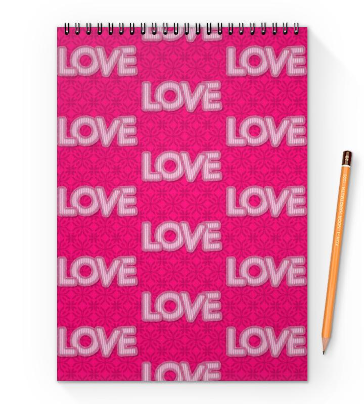 Блокнот на пружине А4 Printio Love love блокнот printio doodle love
