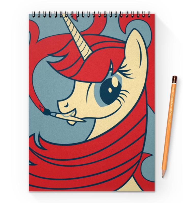 Блокнот на пружине А4 Printio My little pony