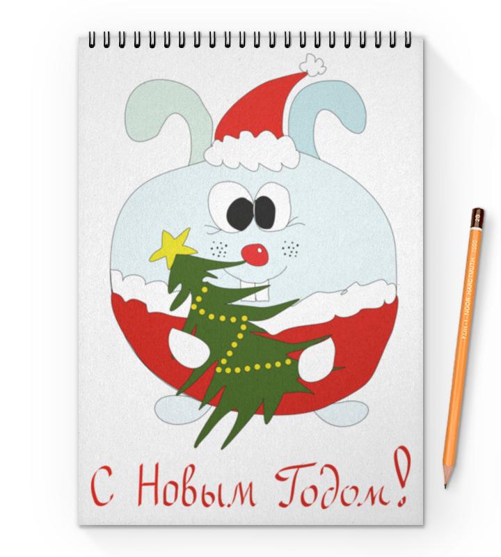 Блокнот на пружине А4 Printio Новогодний заяц тетрадь на пружине printio новогодний заяц