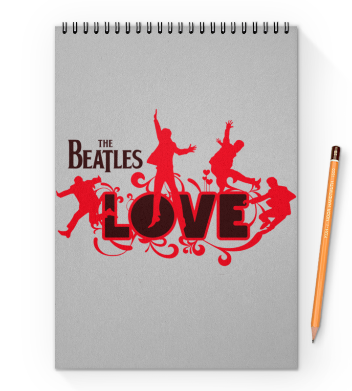 Printio Beatles блокнот на пружине а4 printio royal flush