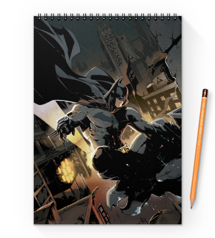 все цены на Блокнот на пружине А4 Printio Бэтмен онлайн