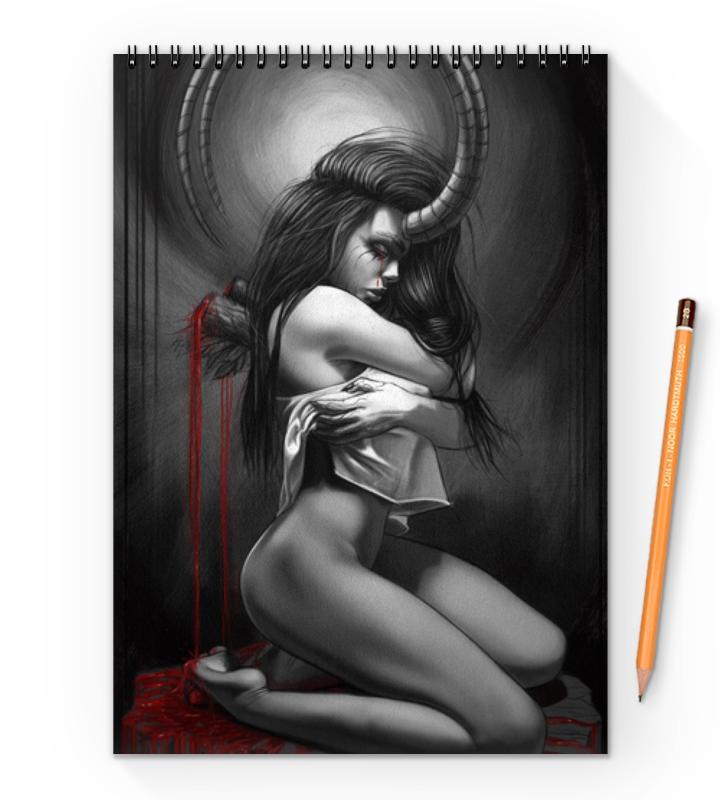 Printio Demon girl блокнот на пружине а4 printio russian girl
