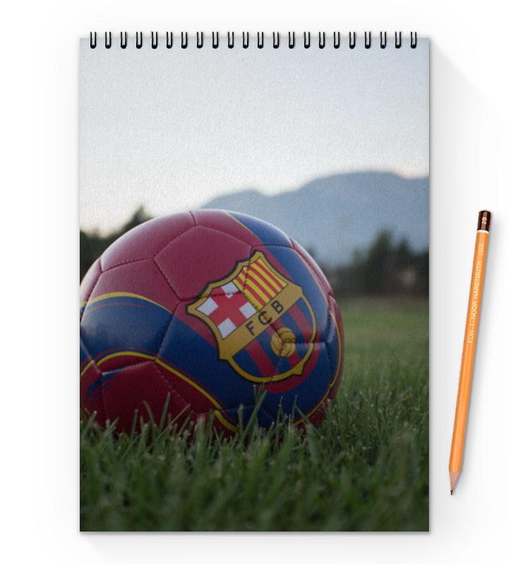 Блокнот на пружине А4 Printio Барселона билеты на матч динамо барселона