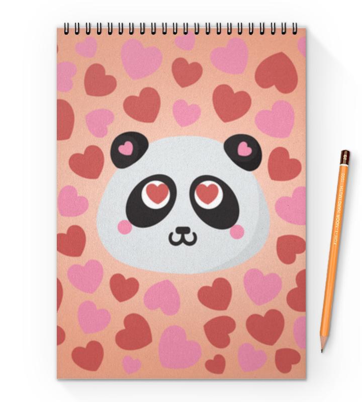 Блокнот на пружине А4 Printio Влюбленная панда блокнот printio панда