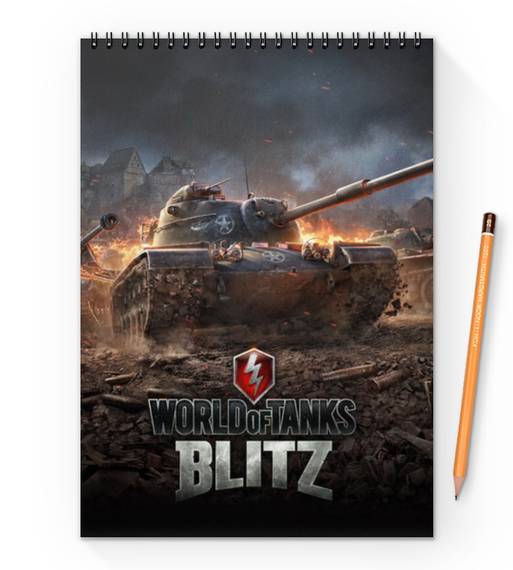 Блокнот на пружине А4 Printio World of tanks блокнот printio world of tanks