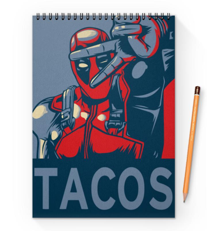 Блокнот на пружине А4 Printio Tacos блокнот index in0103 a550 a5 50 листов в ассортименте