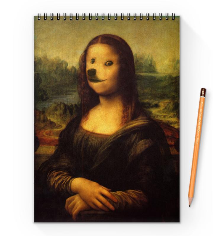 Блокнот на пружине А4 Printio Mona doge блокнот на пружине а4 printio дама шутка