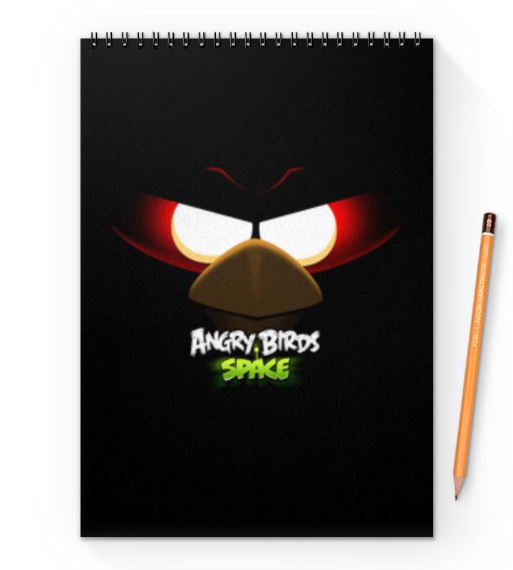Блокнот на пружине А4 Printio Space (angry birds) тетрадь hatber хатбер серия angry birds энгри бёрдз выпуск 4 клетка а5 48 листов флокированная обложка