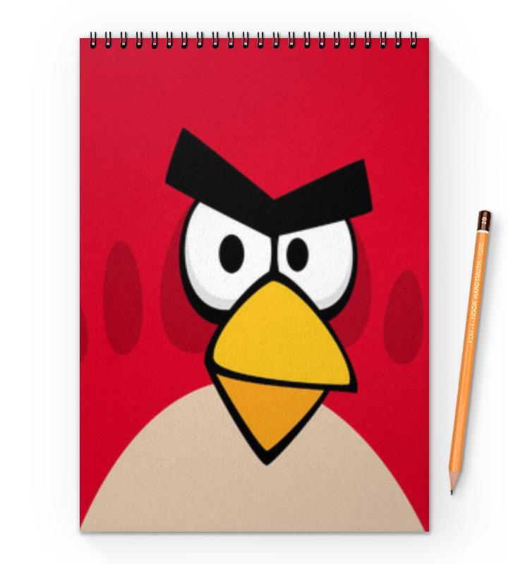 Блокнот на пружине А4 Printio Angry birds (terence) тетрадь hatber хатбер серия angry birds энгри бёрдз выпуск 4 клетка а5 48 листов флокированная обложка
