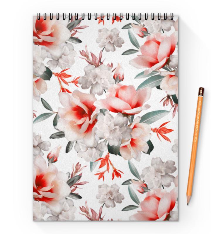 Блокнот на пружине А4 Printio Цветы блокнот кофемана нежные цветы