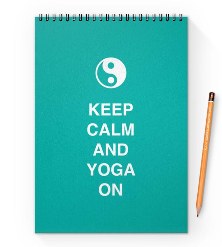 Блокнот на пружине А4 Printio Keep calm and yoga on тетрадь на пружине printio keep calm design is not easy