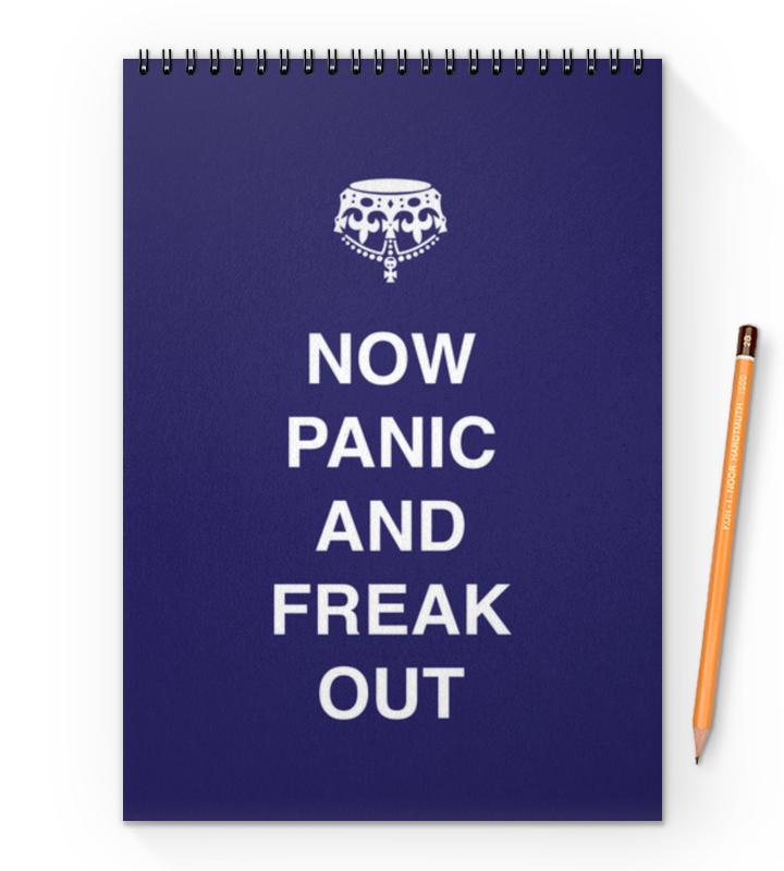 Блокнот на пружине А4 Printio Now panic and freak out