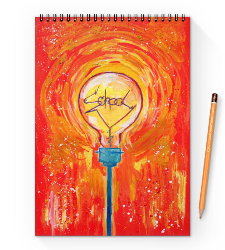 Блокнот на пружине А4 Printio School лампочка криптоновая maglite к арт s4 в блистере 947261