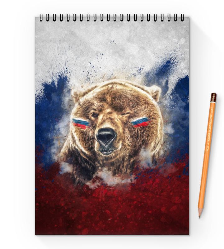 Блокнот на пружине А4 Printio Русский медведь блокнот printio русский блокнот