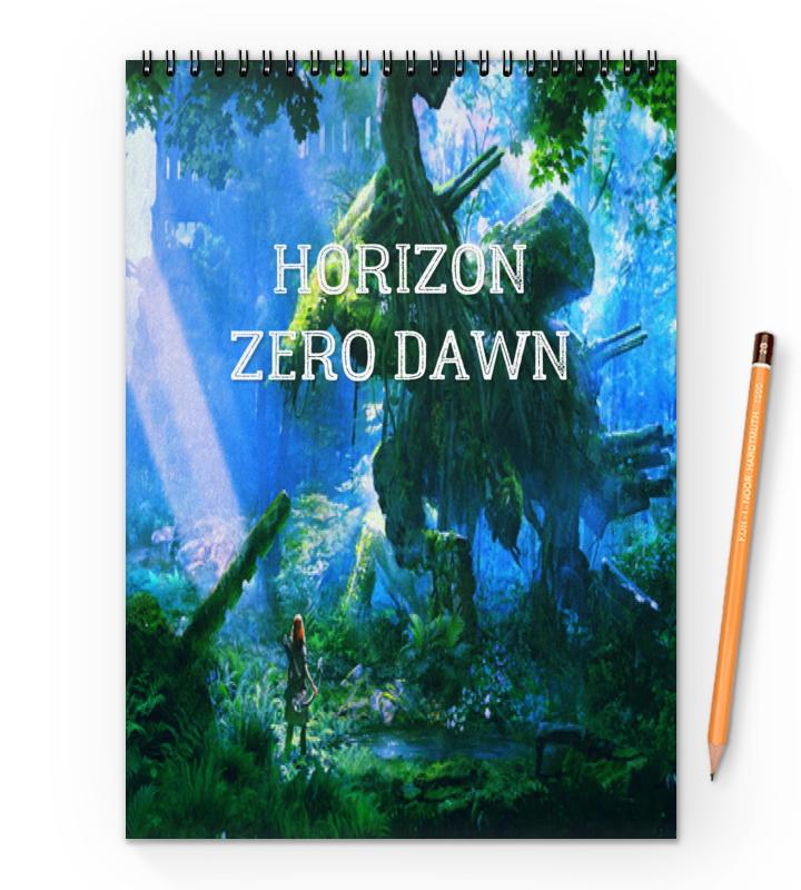 Блокнот на пружине А4 Printio Horizon zero dawn блокнот на пружине а4 printio симпсоны