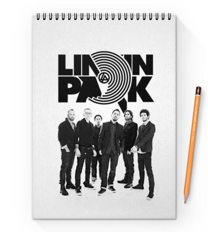 Блокнот на пружине А4 Printio Linkin park блокнот на пружине а4 printio сова в цветах
