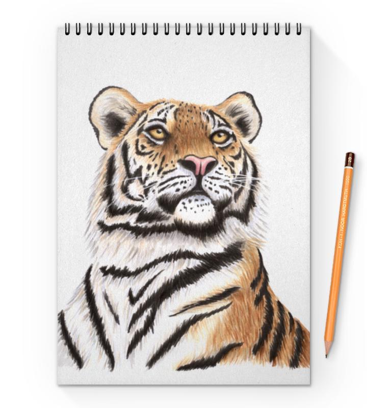 Блокнот на пружине А4 Printio Взгляд тигра