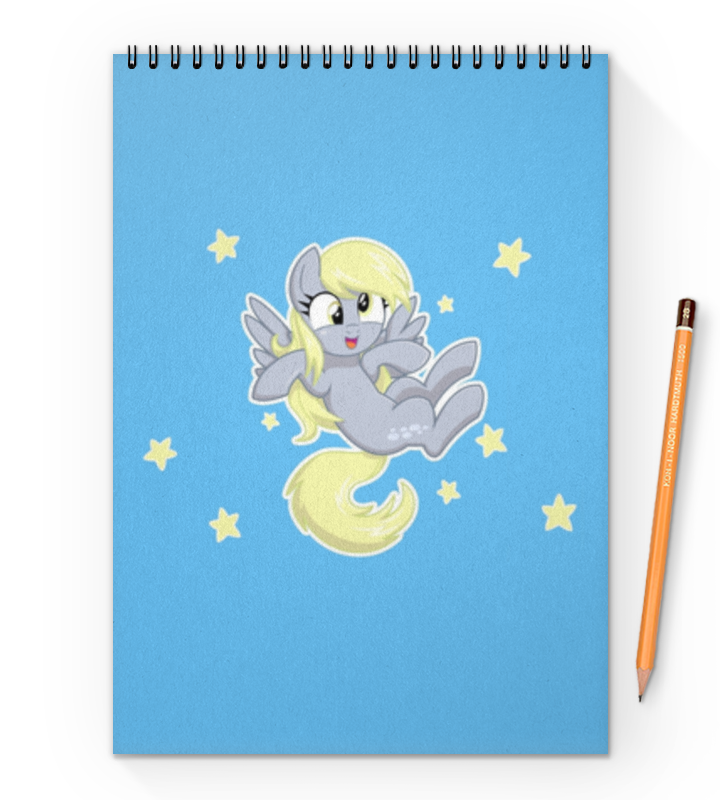 Блокнот на пружине А4 Printio My little pony (derpy)