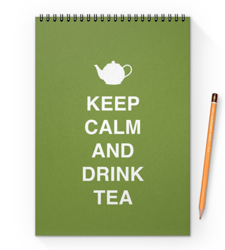 Блокнот на пружине А4 Printio Keep calm and drink tea сумка printio keep calm and ski on