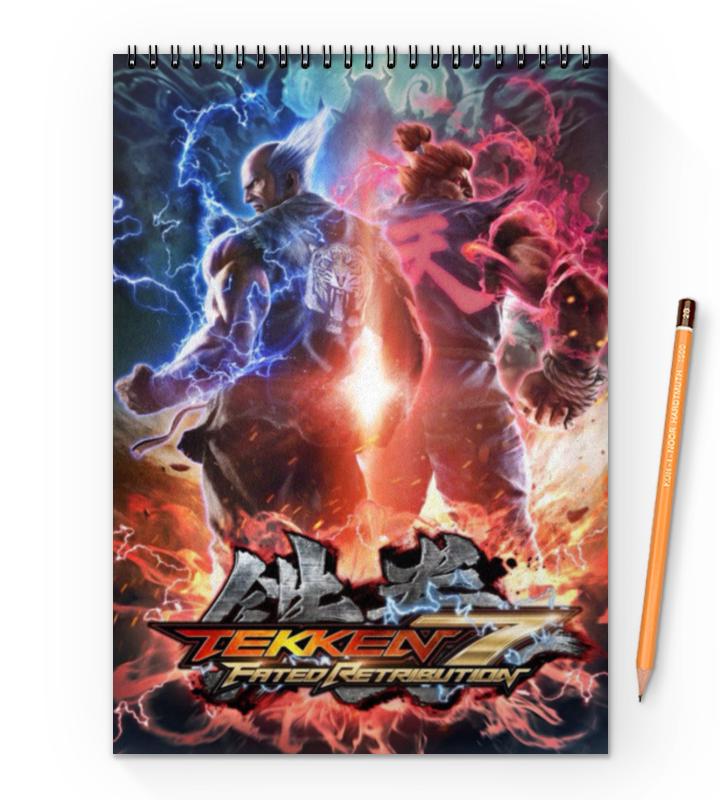 Блокнот на пружине А4 Printio Tekken 7 феникс пенка цветная а4 7 листов 7 цветов