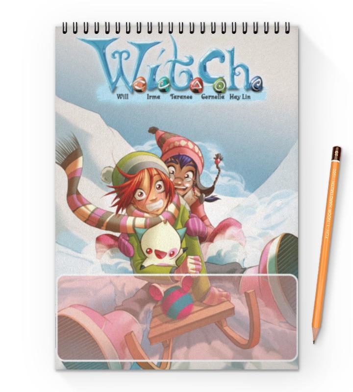 Блокнот на пружине А4 Printio Чародейки | witch winter sleigh юбка strawberry witch lolita sk