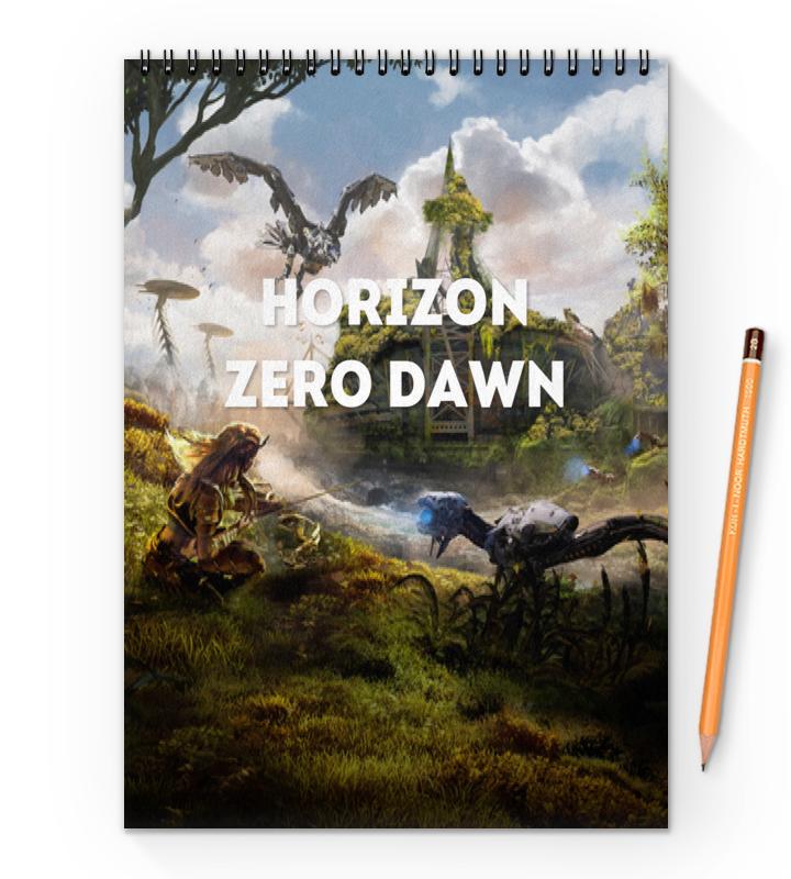 Фото - Блокнот на пружине А4 Printio Horizon zero dawn блокнот на пружине а4 printio reptile