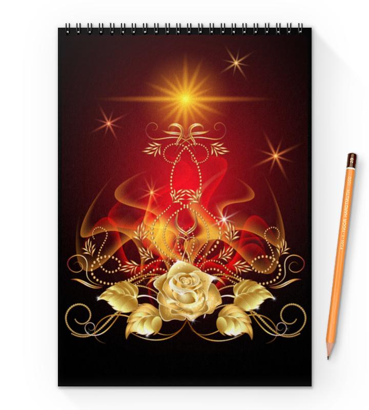 Блокнот на пружине А4 Printio Золотая роза блокнот на пружине а4 printio золотая роза