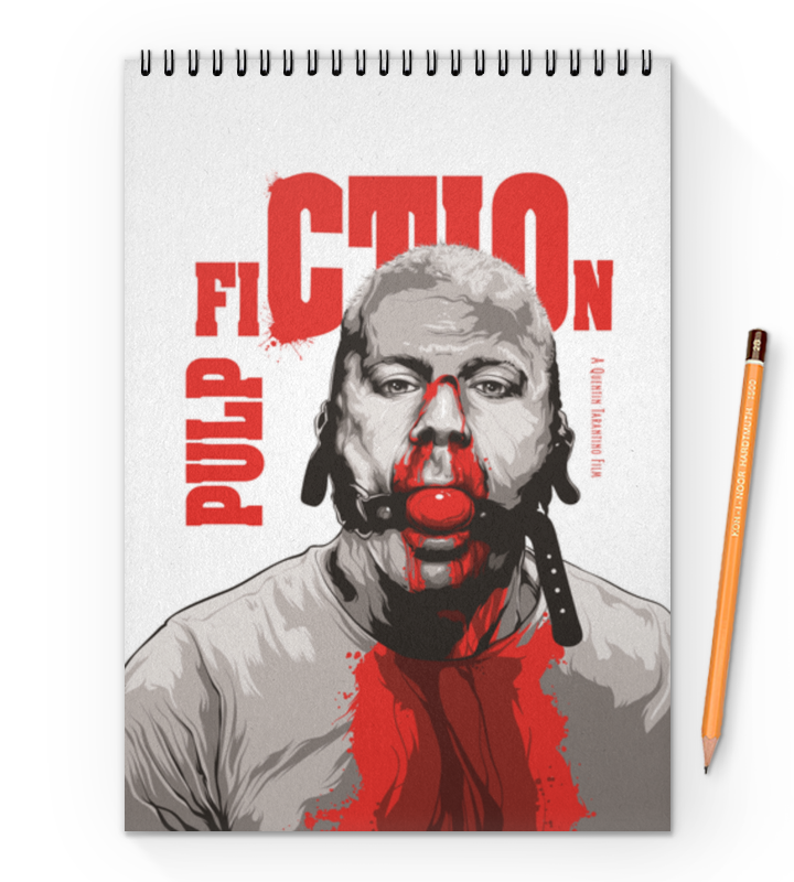 Блокнот на пружине А4 Printio Pulp fiction (брюс уиллис)