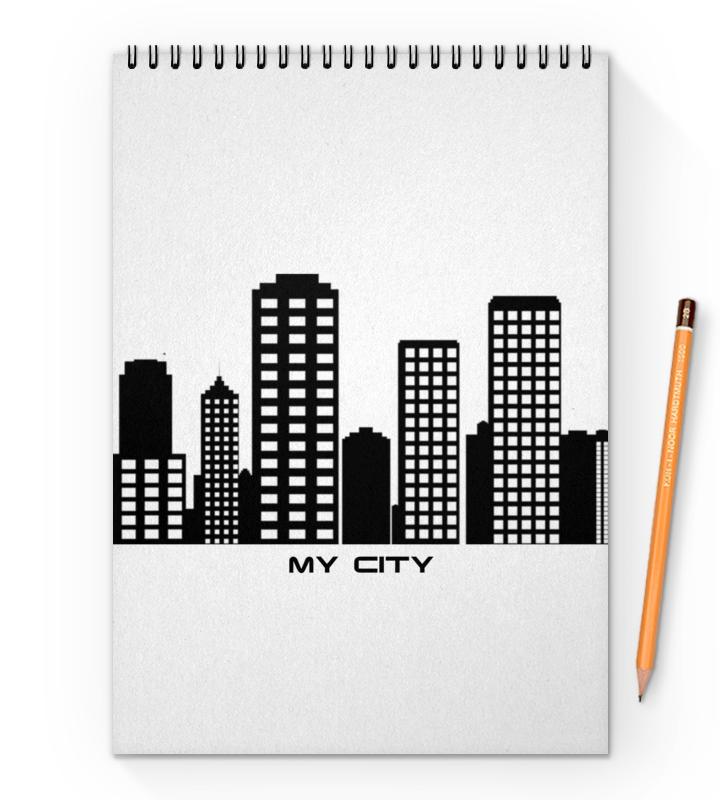 Printio Мой город блокнот на пружине а4 printio мой город