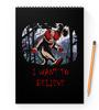 """Блокнот на пружине А4 """"Клоун - i want to believe"""" - хэллоуин, клоун, i want to believe, clown, оно"""