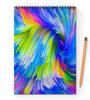 "Блокнот на пружине А4 ""Abstract Rainbow"" - радуга, цвета, краски, абстракция"