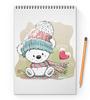 """Блокнот на пружине А4 """"Медвежонок"""" - юмор, зима, рисунок, мультяшка, медвежонок"""