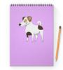 """Блокнот на пружине А4 """"ДЖЕК РАССЕЛ.СОБАКА"""" - майкл джексон, щенок, собака, животное, рассел"""
