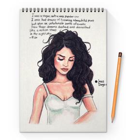 "Блокнот на пружине А4 ""Lana Del Rey"" - lana del rey, лана, лана дель рей"