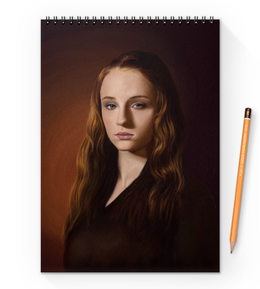 "Блокнот на пружине А4 ""Санса Старк"" - игра престолов, game of thrones, санса старк, sansa stark, winter is coming"