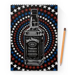"""Блокнот на пружине А4 """"Jack Daniels"""" - арт, дизайн, графика, стиль"""