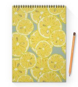 """Блокнот на пружине А4 """"лимоны"""" - лето, фрукты, лимон, лимоны, цитрусовые"""