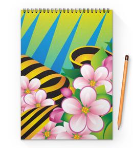"""Блокнот на пружине А4 """"Победа"""" - праздник, цветы, 9 мая"""